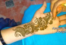 henna mehndi design simple