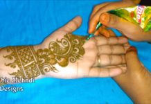 arabic simple henna latest mehndi design