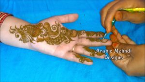 simple mehndi designs for hands arabic