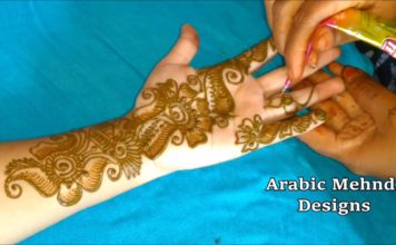 simple arabic henna mehndi designs for hands