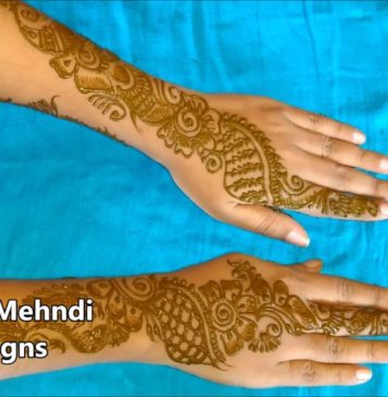 mehndi designs for hands simple and easy for beginners